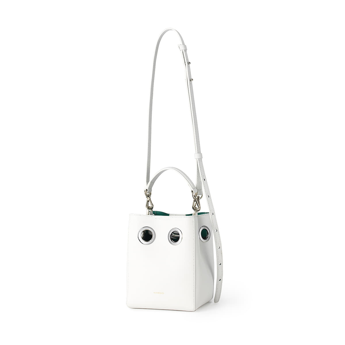 Mini Nana Bag (White+Turquoise blue)