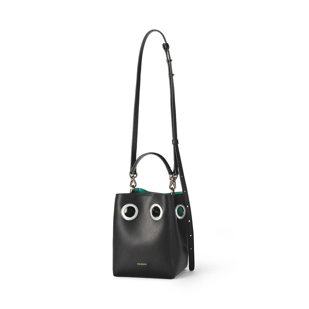 Mini Nana Bag (Black+Turquoise blue)