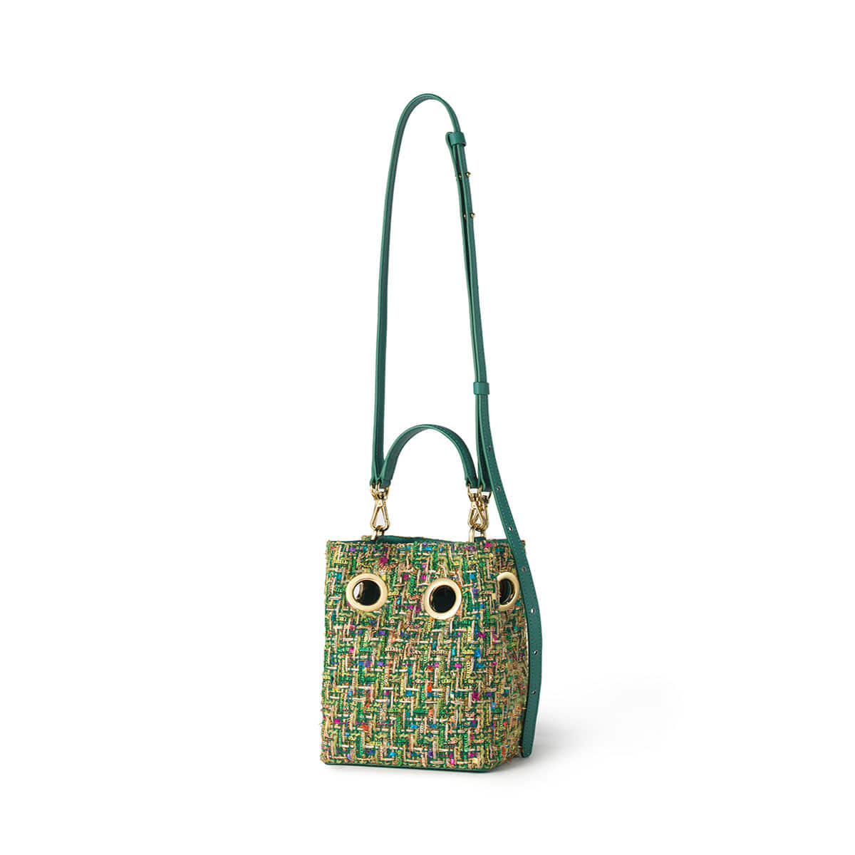 Mini Nana Bag (Green tweed)