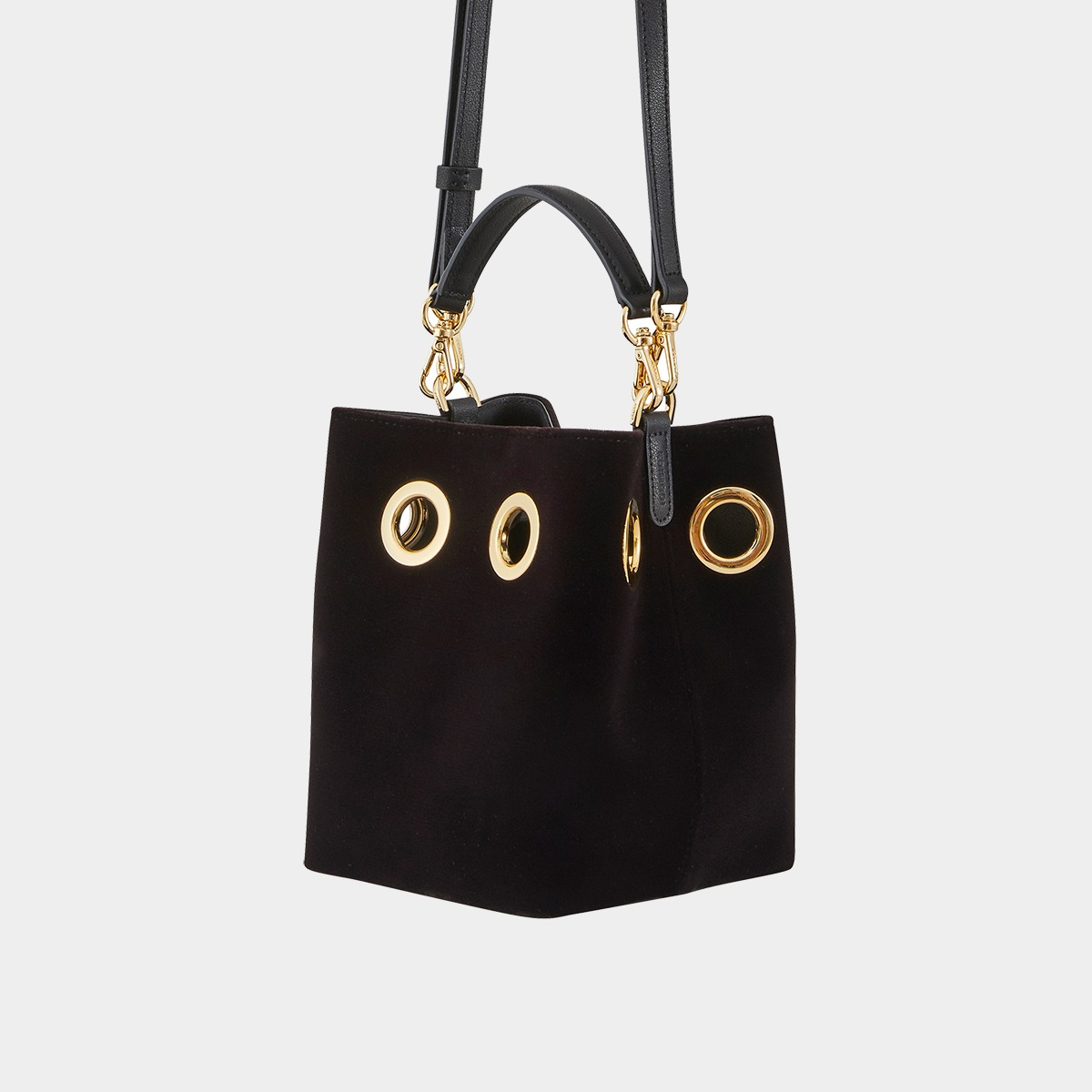 Mini Nana Bag (Black Velvet)